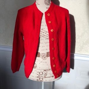 Vintage Red Button Down Cardigan